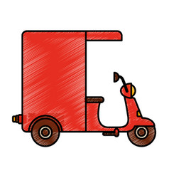 motorcycle delivery vehicle icon vector image