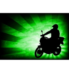 motorcyclist background 4 vector image