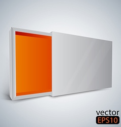 Opened white box vector