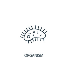 organism concept line icon simple element vector image