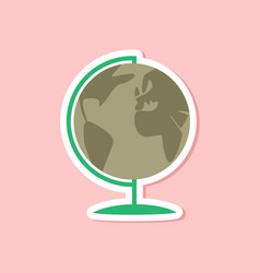 Paper sticker on stylish background globe vector