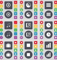 Plus Yin-Yang Apps Note Music window Clock vector