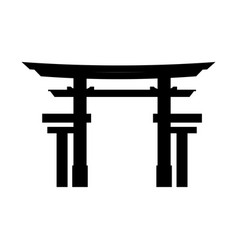 Portal japanese culture icon vector