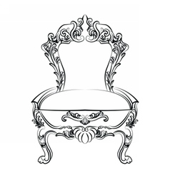 Royal Baroque Classic chair furniture vector