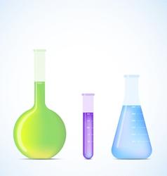 science flasks vector image