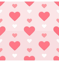 Seamless hearts pattern red and pink vector image