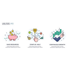 Set concept with business concept vector