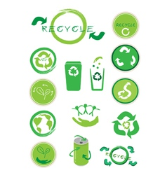 Set of Ecology Icon for Save The World vector image