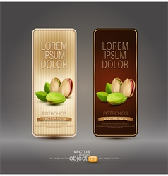 Set of labels with pistachios vector