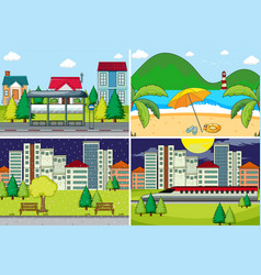 set simple background vector image