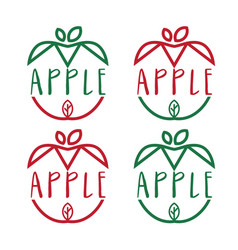 set template icon apples vector image