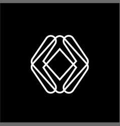 simple ua au auo initials company logo vector image