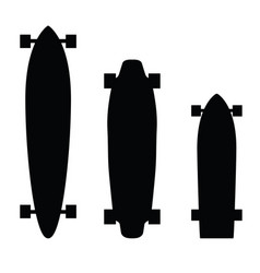 Skateboard and longboard silhouette vector