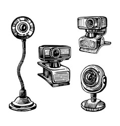 sketch a webcam vector image