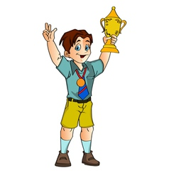 Smiling little champion vector image