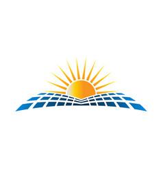 solar energu logo vector image vector image