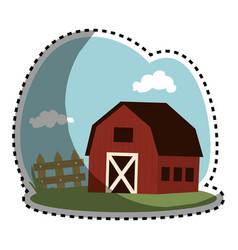 stable building farm icon vector image