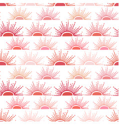 summer background in red and pink colors sun rays vector image