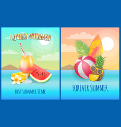 summer beach party banner placard sample vector image