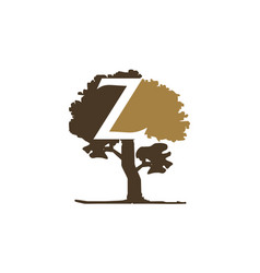 tree letter z vector image