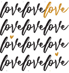 valentines pattern with handwritten text vector image