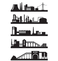 Various industrial plants vector image
