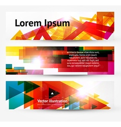 Web Banner Set vector image vector image