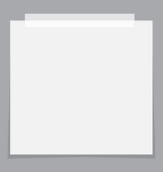 white paper stickers icon with shadow on gray vector image