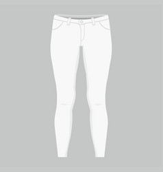 womens white jeans vector image