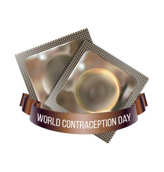 world contraception day emblem vector image