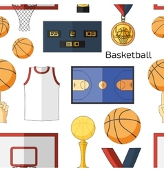 Basketball icons pattern vector image