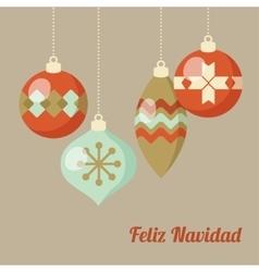 Retro merry christmas greeting card invitation vector