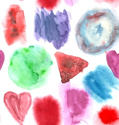 Abstract watercolor art hand paint seamless vector image
