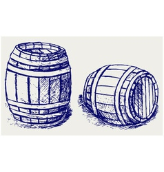 Beer barrels vector image vector image
