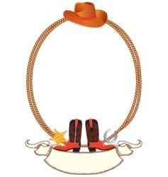 Cowboy rope frame vector