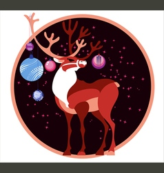 deer chircle vector image