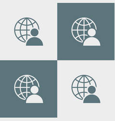 user icon simple sign business vector image