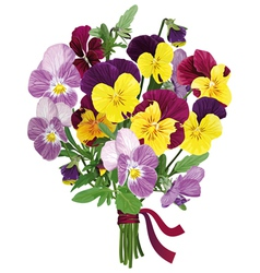 bouquet of colored forget me nots vector image
