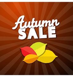 Retro Autumn Sale Background vector image vector image