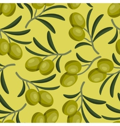 Seamless pattern with fresh ripe olive branches vector image vector image