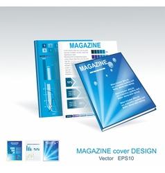 blue brochure design set vector image