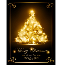 Elegant Christmas card party invitation vector image vector image