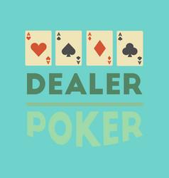Flat icon on stylish background casino dealer vector
