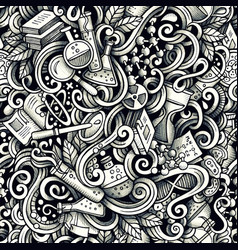 graphic science hand drawn artistic doodles vector image