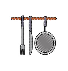 ladles and pan illsutratio vector image vector image