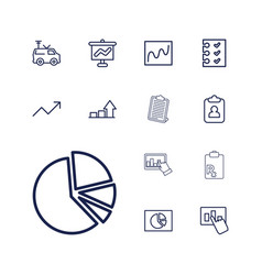 13 report icons vector