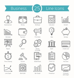 25 Business Line Icons vector