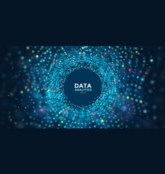 3d data visualization concept global vector