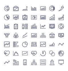 49 chart icons vector