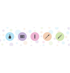 5 cosmetic icons vector